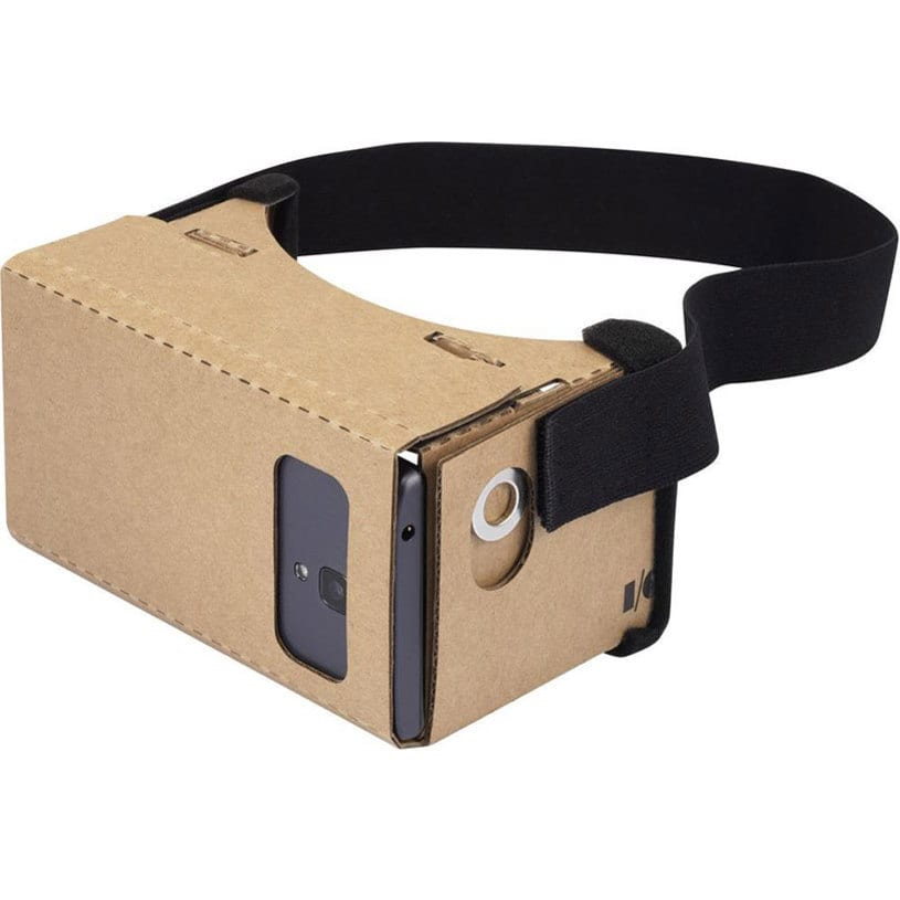 The Google Cardboard headset brings VR costs way down.